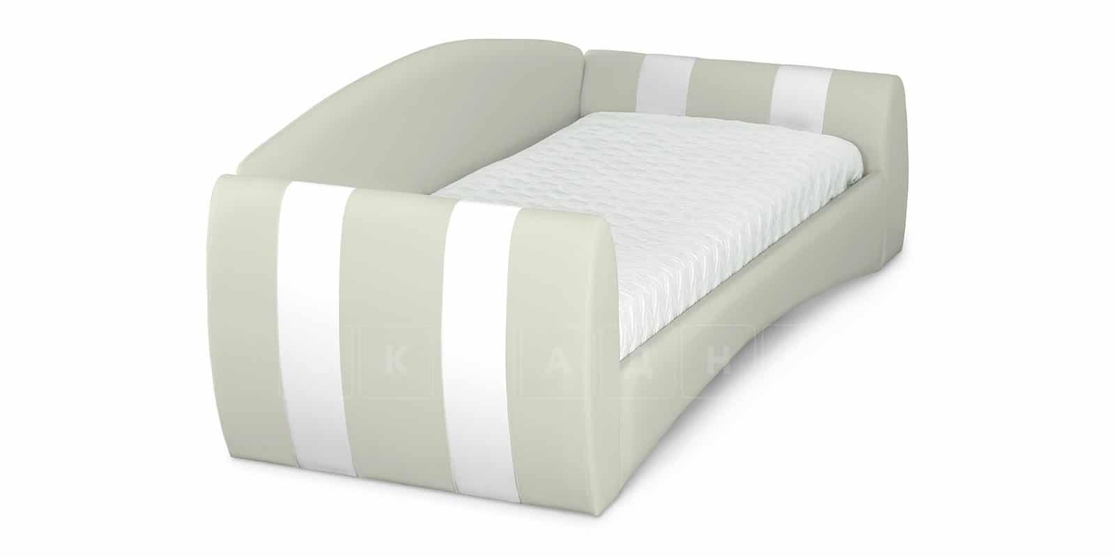 Мягкая кровать Монако 90х190см молочного цвета левая фото 4 | интернет-магазин Складно
