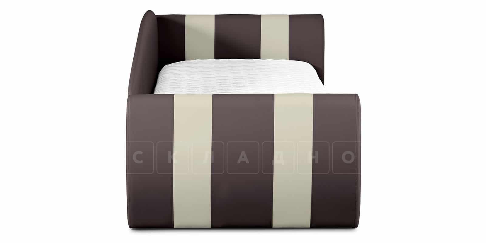 Мягкая кровать Монако 90х190см шоколадного цвета правая фото 5 | интернет-магазин Складно