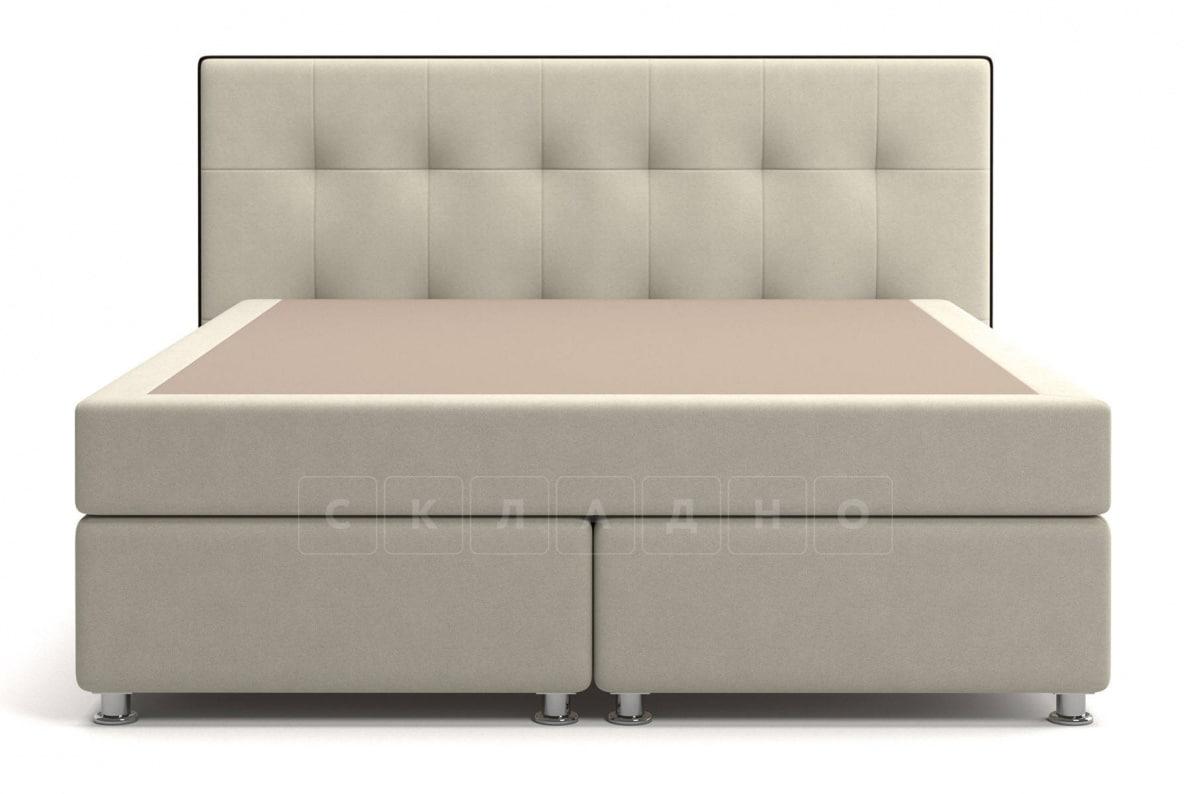 Кровать Николетт бежевого цвета единый матрас блок Боннель фото 2 | интернет-магазин Складно
