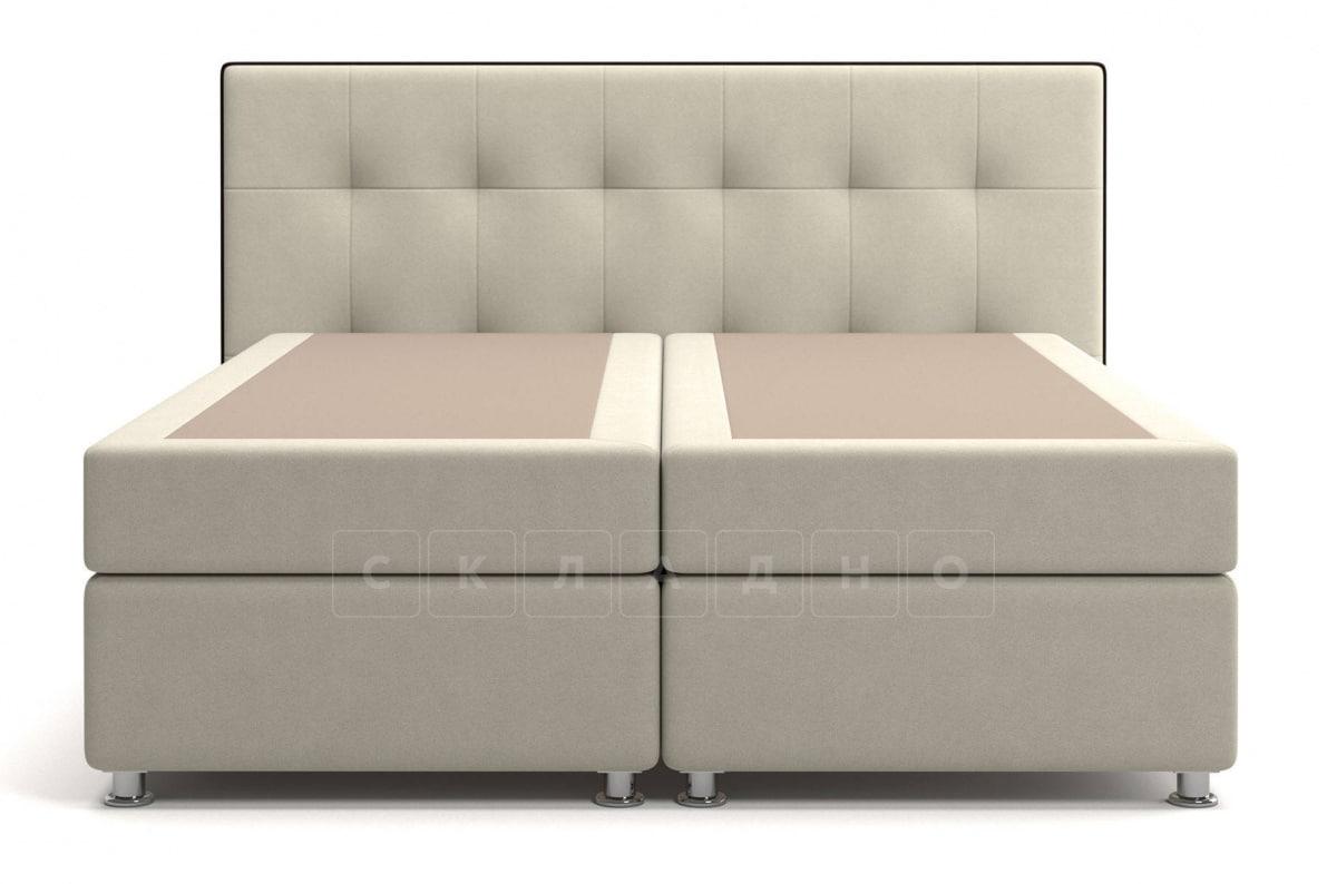 Кровать Николетт бежевого цвета два раздельных матраса пружинный блок Боннель фото 2 | интернет-магазин Складно