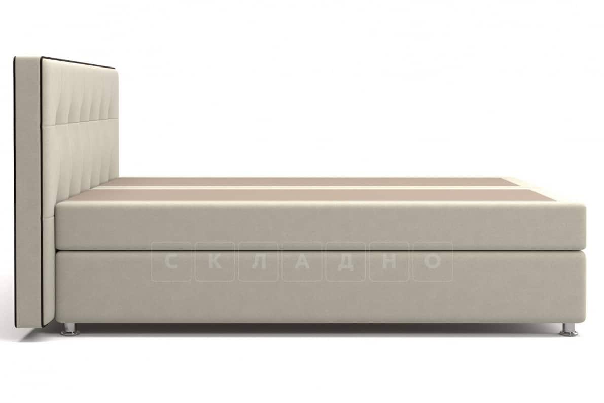 Кровать Николетт бежевого цвета два раздельных матраса пружинный блок Боннель фото 3 | интернет-магазин Складно