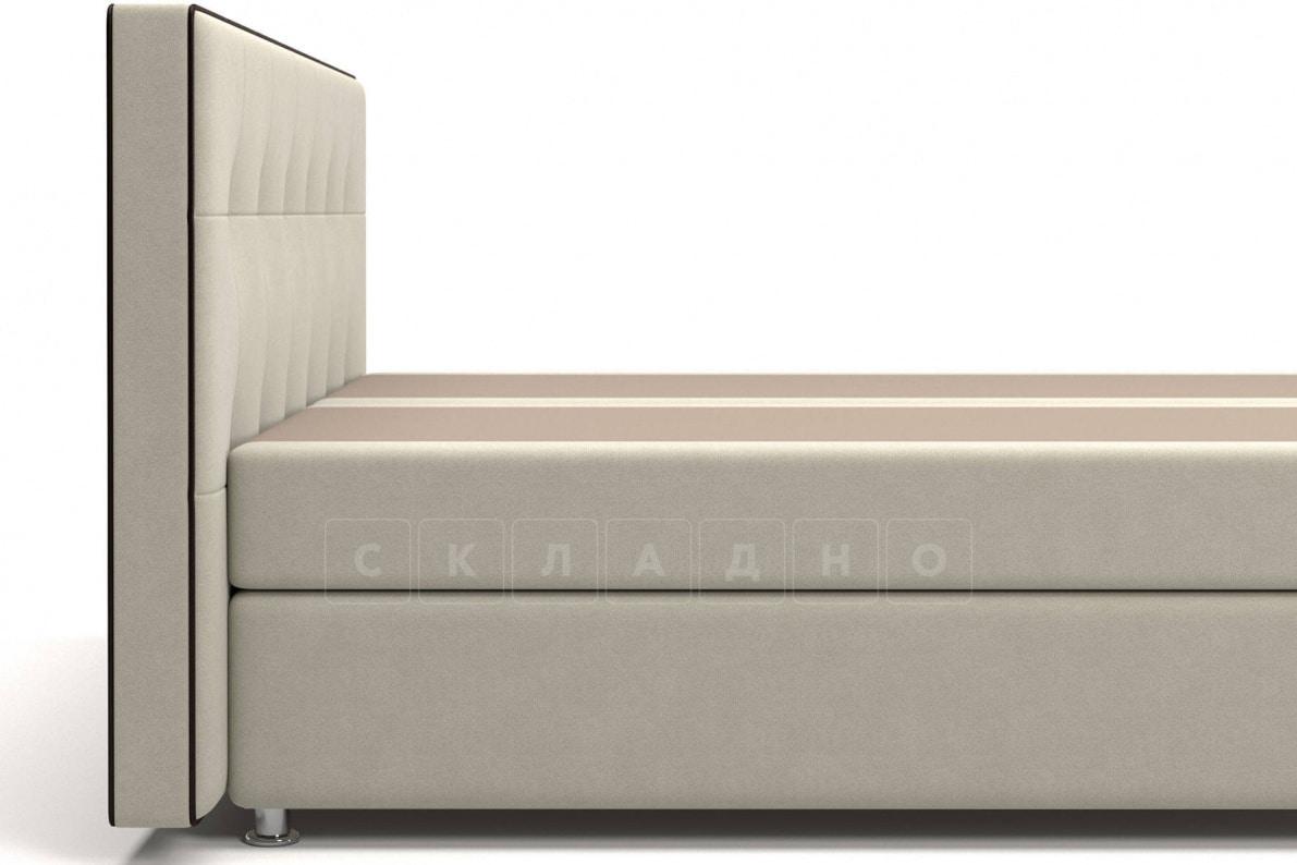 Кровать Николетт бежевого цвета два раздельных матраса пружинный блок Боннель фото 4 | интернет-магазин Складно