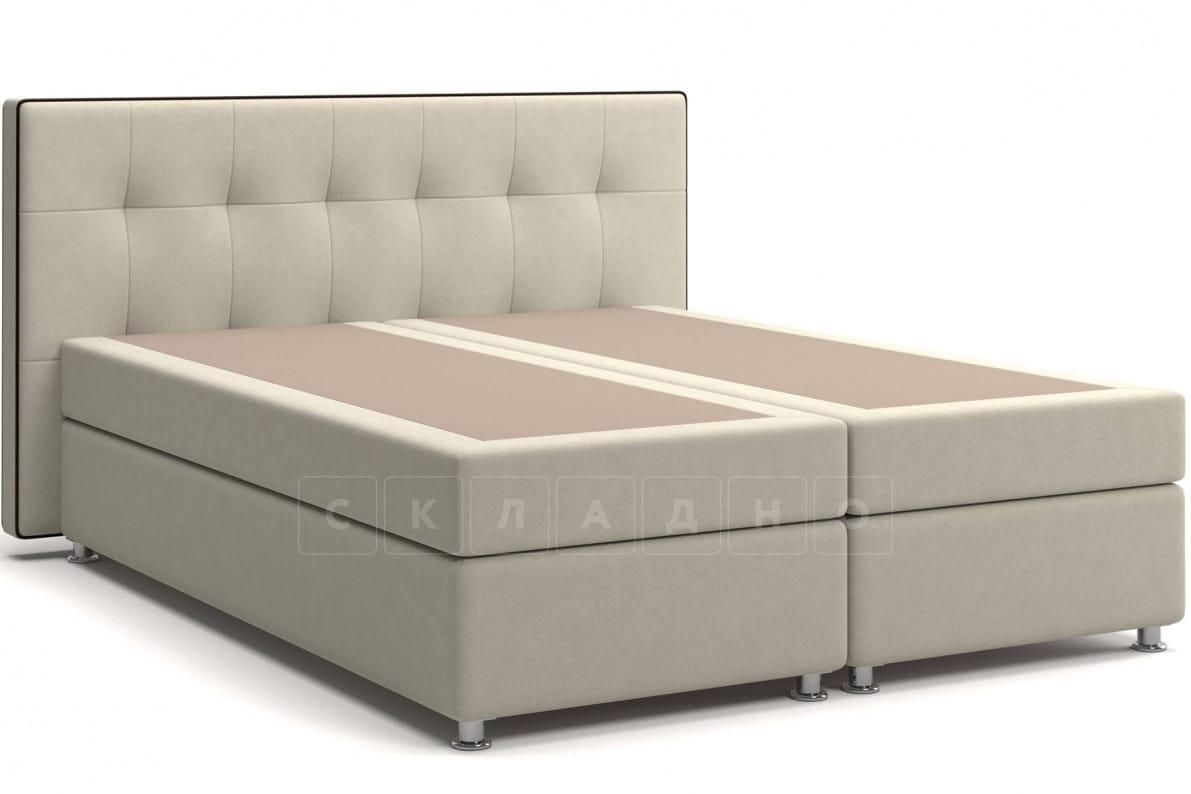 Кровать Николетт бежевого цвета два раздельных матраса пружинный блок Боннель фото 1 | интернет-магазин Складно