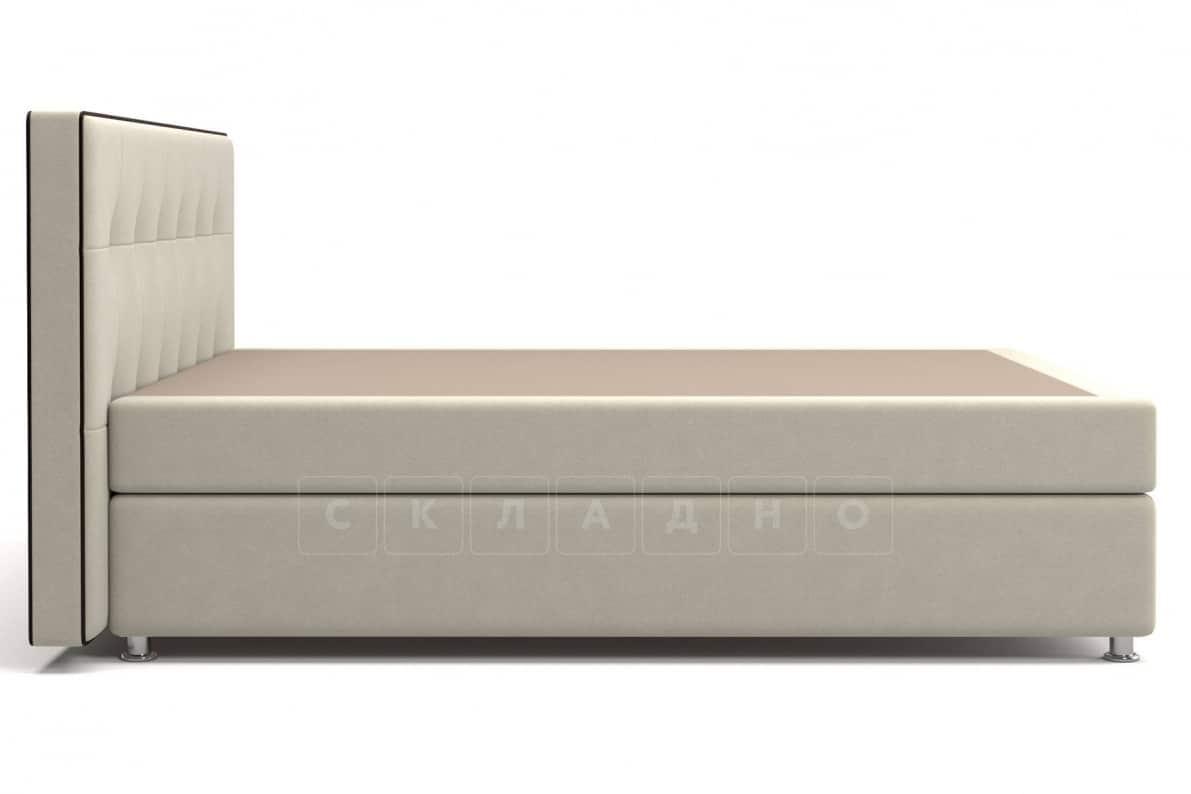 Кровать Николетт бежевого цвета единый матрас блок Боннель фото 3 | интернет-магазин Складно