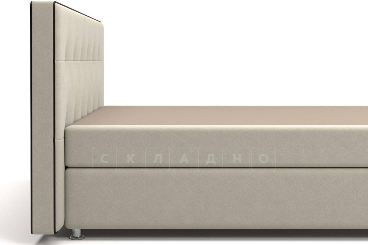 Кровать Николетт бежевого цвета единый матрас блок Боннель фото 4 | интернет-магазин Складно
