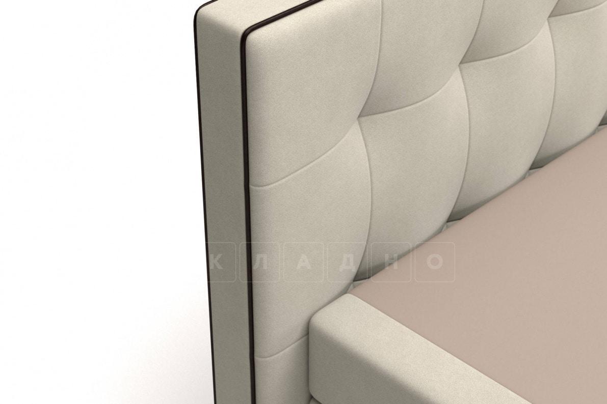 Кровать Николетт бежевого цвета два раздельных матраса пружинный блок Боннель фото 5 | интернет-магазин Складно