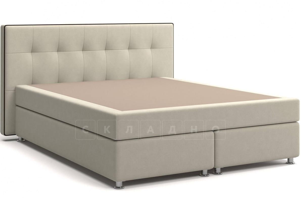Кровать Николетт бежевого цвета единый матрас блок Боннель фото 1 | интернет-магазин Складно
