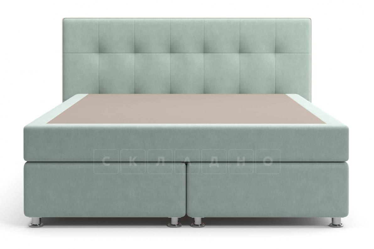 Кровать Николетт серо-голубого цвета единый матрас блок Боннель фото 2 | интернет-магазин Складно