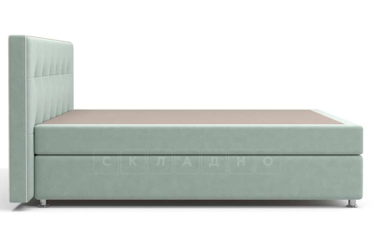 Кровать Николетт серо-голубого цвета единый матрас блок Боннель фото 3 | интернет-магазин Складно