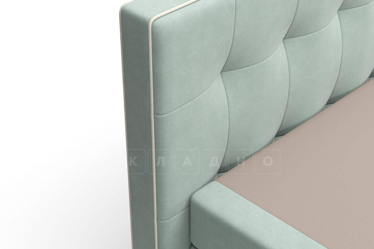 Кровать Николетт серо-голубого цвета два раздельных матраса блок независимых пружин фото 5 | интернет-магазин Складно