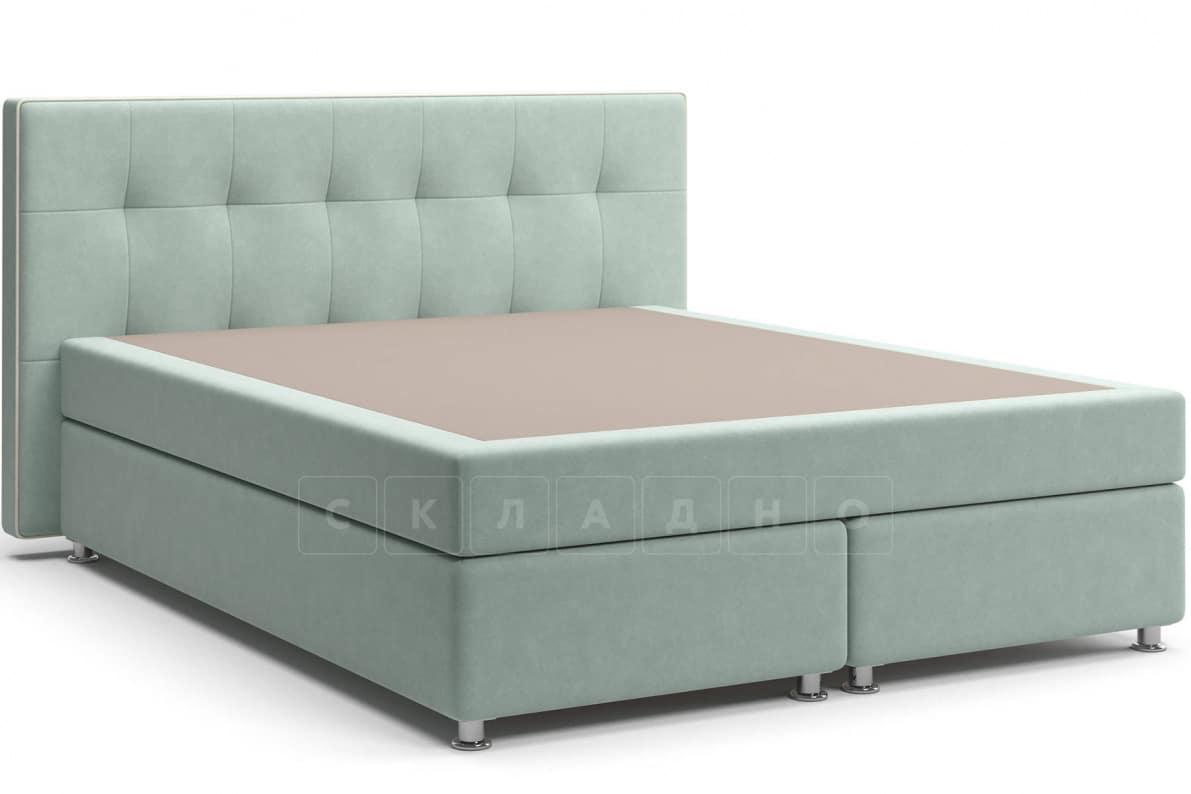 Кровать Николетт серо-голубого цвета единый матрас блок Боннель фото 1 | интернет-магазин Складно
