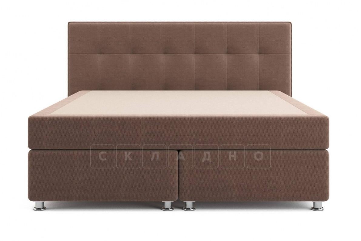 Кровать Николетт коричневого цвета единый матрас блок Боннель фото 2 | интернет-магазин Складно
