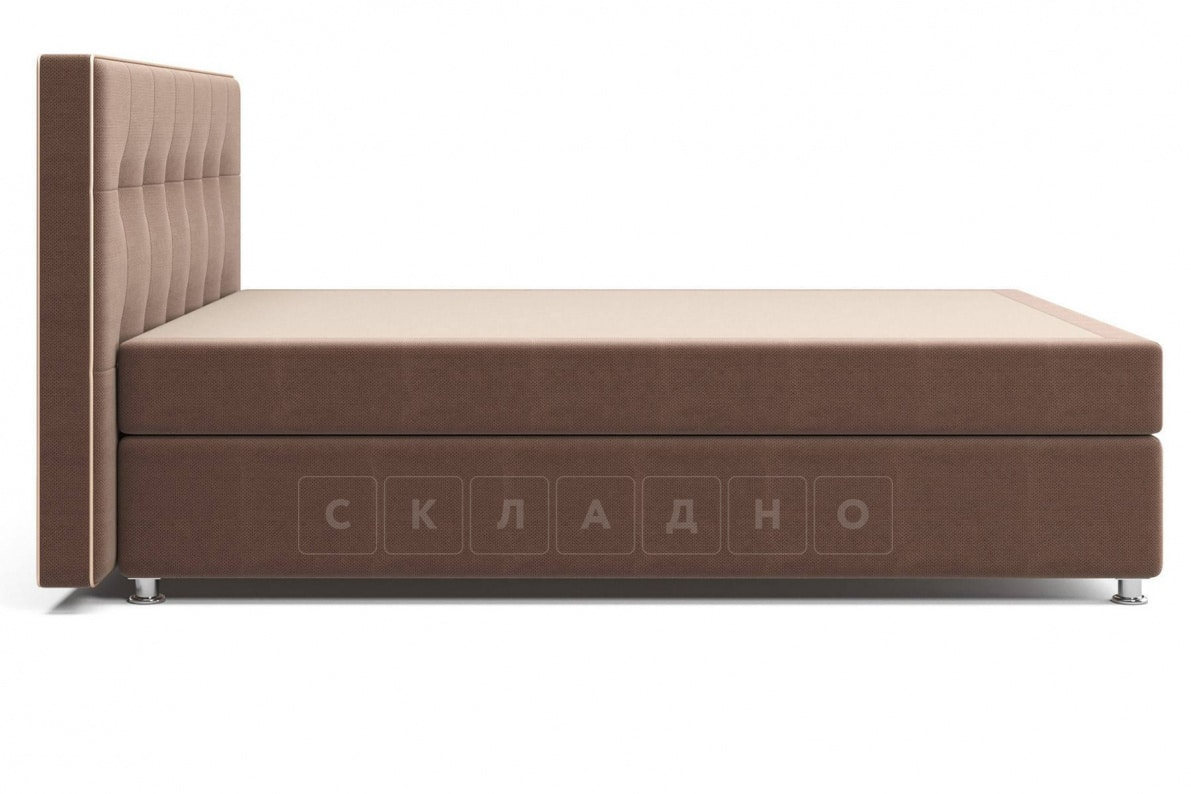Кровать Николетт коричневого цвета единый матрас блок Боннель фото 3 | интернет-магазин Складно