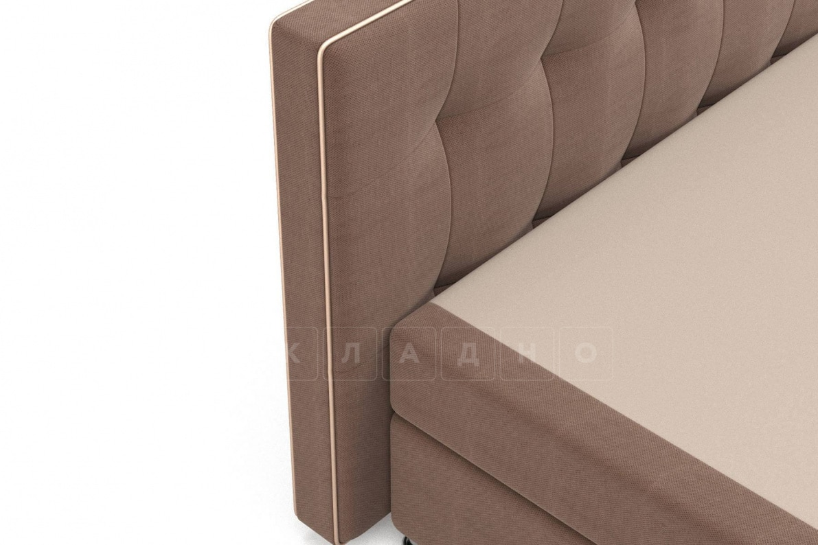 Кровать Николетт коричневого цвета единый матрас блок Боннель фото 4 | интернет-магазин Складно