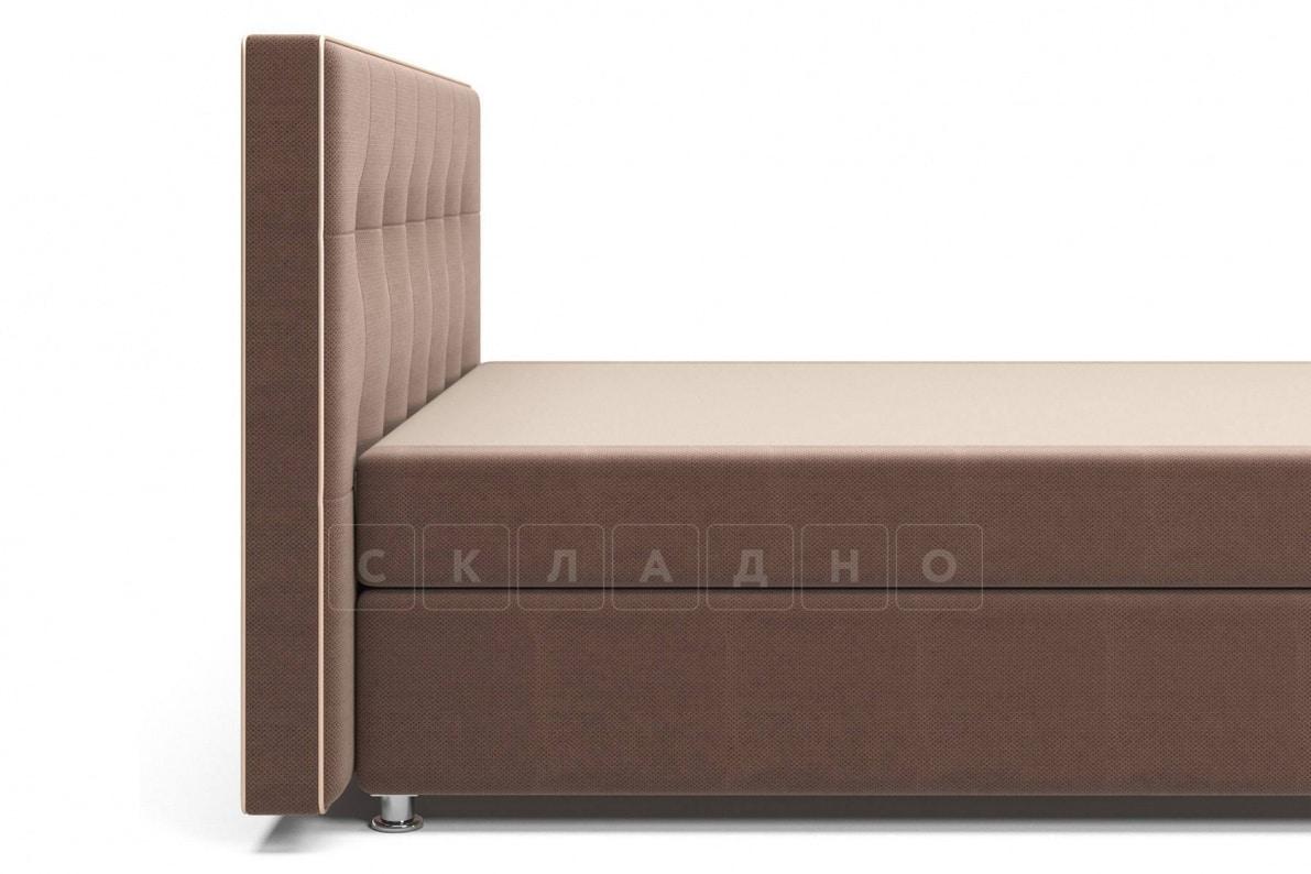 Кровать Николетт коричневого цвета единый матрас блок Боннель фото 5 | интернет-магазин Складно