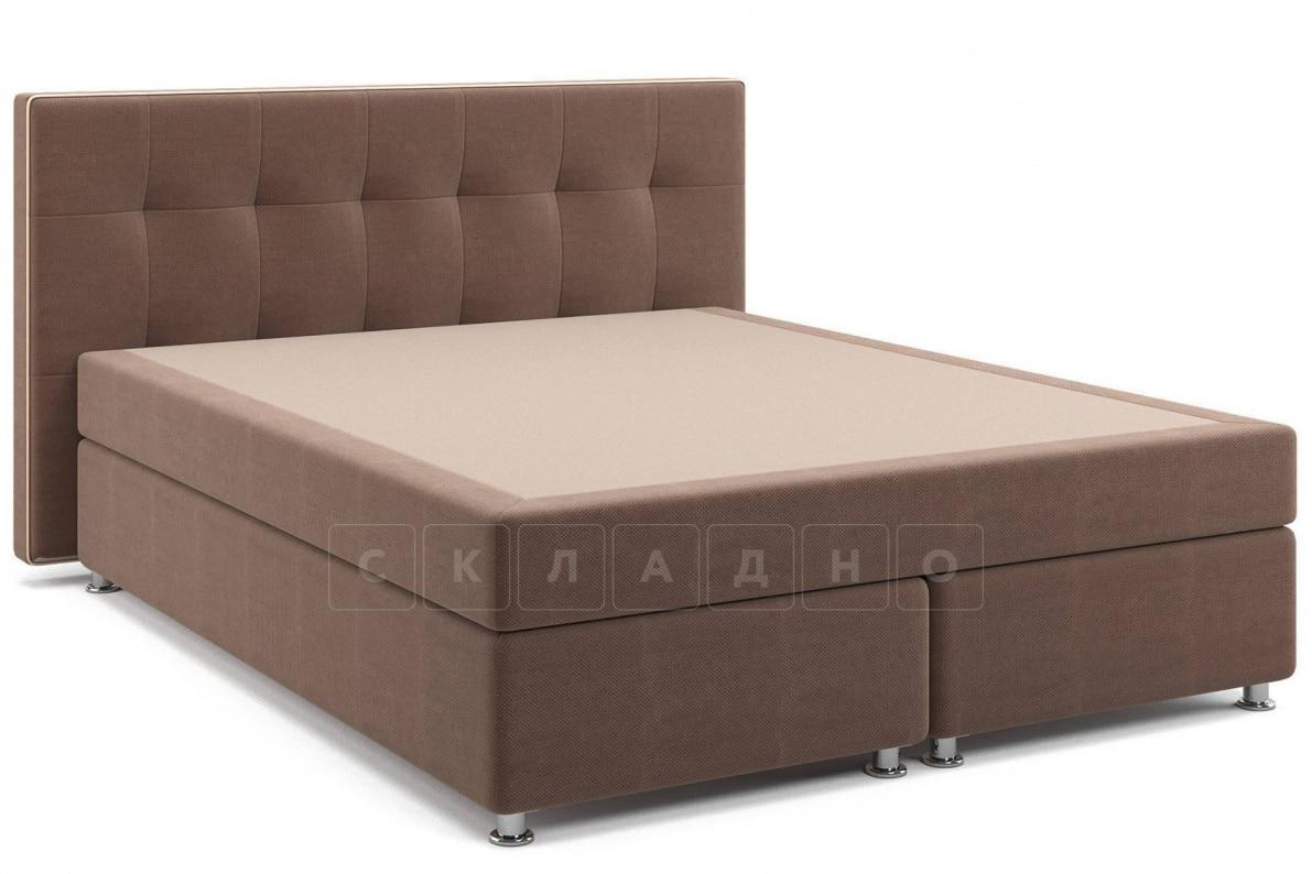 Кровать Николетт коричневого цвета единый матрас блок Боннель фото 1 | интернет-магазин Складно