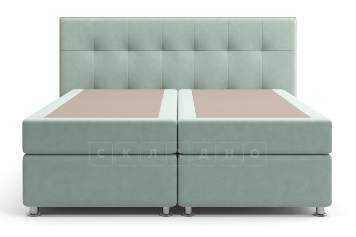 Кровать Николетт серо-голубого цвета два раздельных матраса блок независимых пружин фото 2 | интернет-магазин Складно