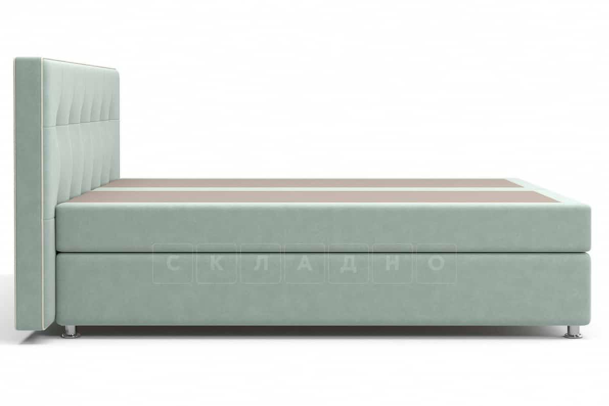 Кровать Николетт серо-голубого цвета два раздельных матраса блок независимых пружин фото 3 | интернет-магазин Складно