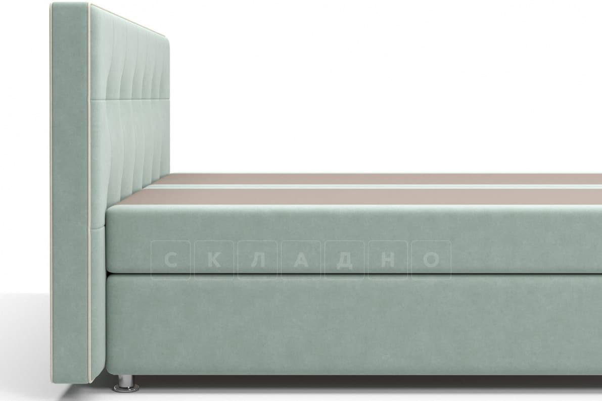 Кровать Николетт серо-голубого цвета два раздельных матраса блок независимых пружин фото 4 | интернет-магазин Складно