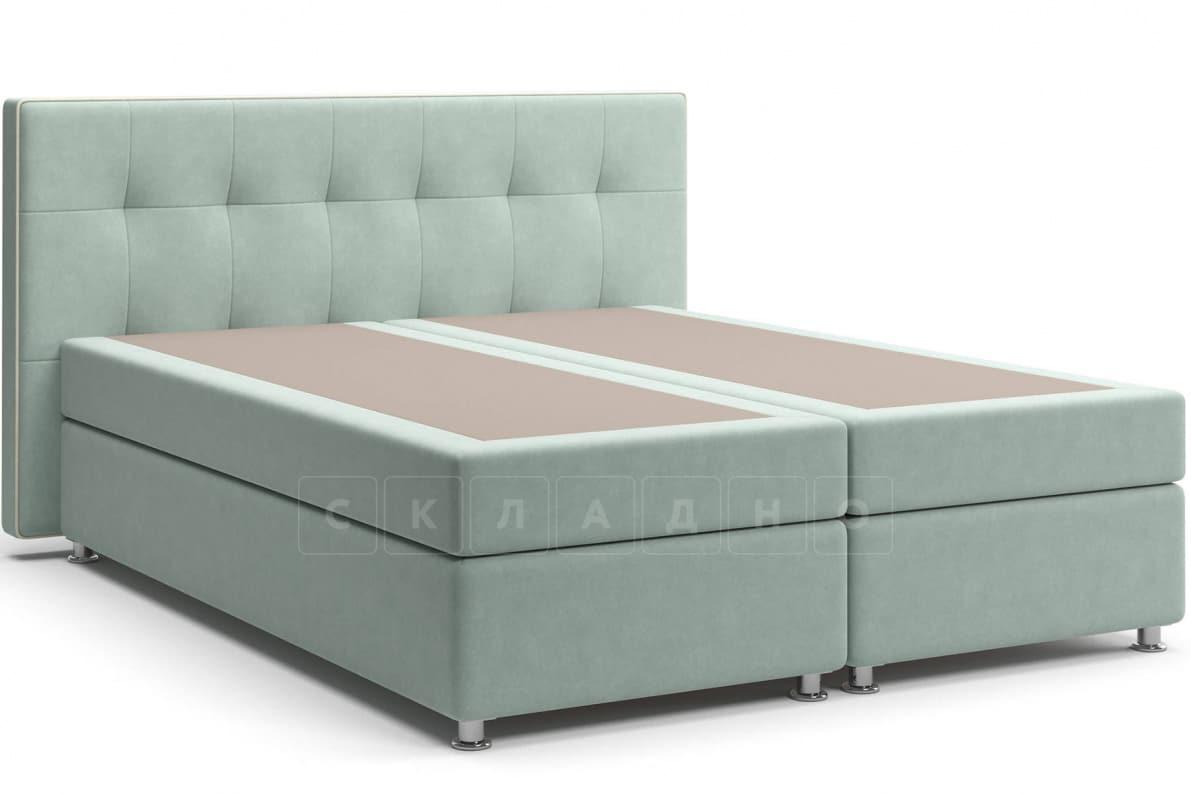 Кровать Николетт серо-голубого цвета два раздельных матраса блок независимых пружин фото 1 | интернет-магазин Складно