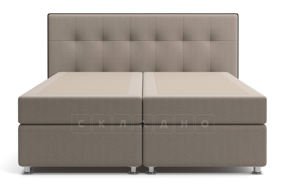 Кровать Николетт темно-бежевого цвета два раздельных матраса пружинный блок Боннель фото 2 | интернет-магазин Складно