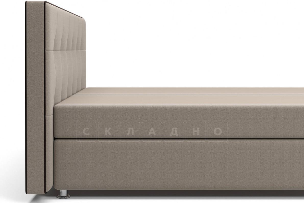 Кровать Николетт темно-бежевого цвета два раздельных матраса пружинный блок Боннель фото 4 | интернет-магазин Складно