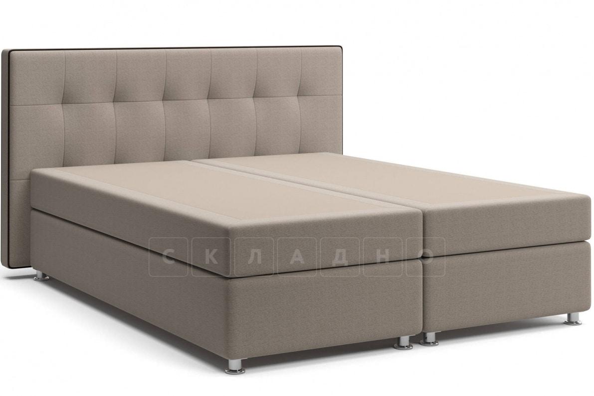 Кровать Николетт темно-бежевого цвета два раздельных матраса пружинный блок Боннель фото 1 | интернет-магазин Складно