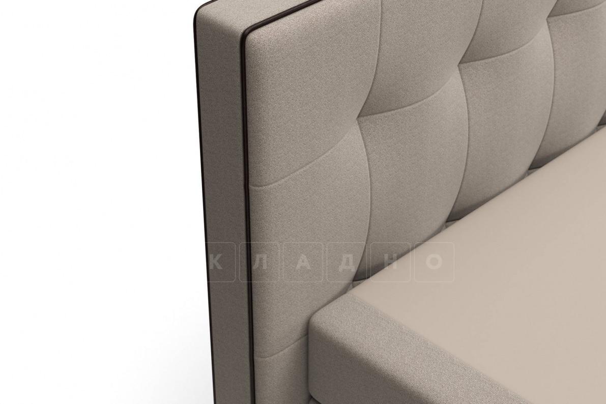 Кровать Николетт темно-бежевого цвета два раздельных матраса пружинный блок Боннель фото 5 | интернет-магазин Складно