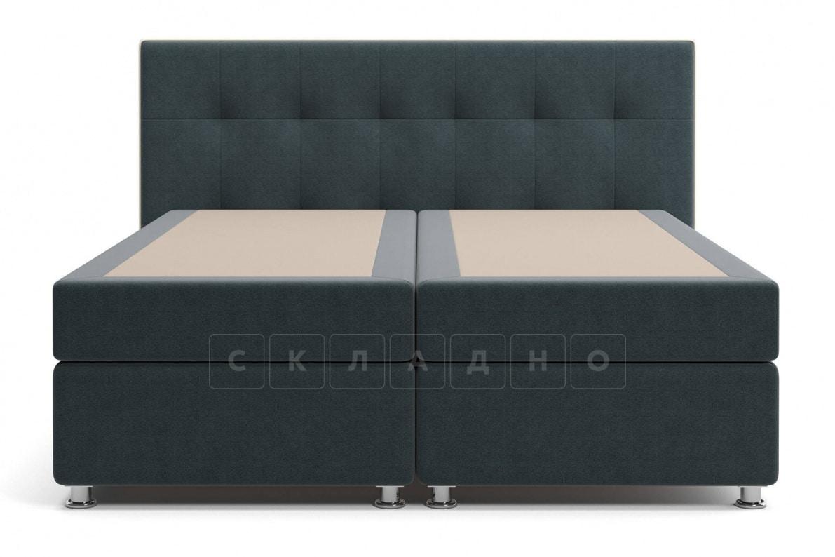 Кровать Николетт темно-серого цвета два раздельных матраса пружинный блок Боннель фото 2 | интернет-магазин Складно