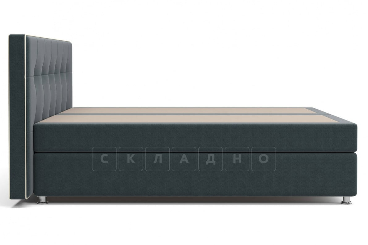Кровать Николетт темно-серого цвета два раздельных матраса пружинный блок Боннель фото 3 | интернет-магазин Складно