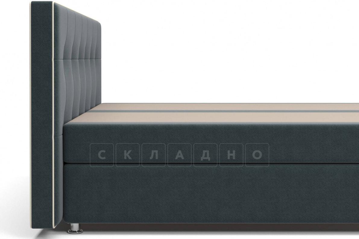 Кровать Николетт темно-серого цвета два раздельных матраса пружинный блок Боннель фото 4 | интернет-магазин Складно
