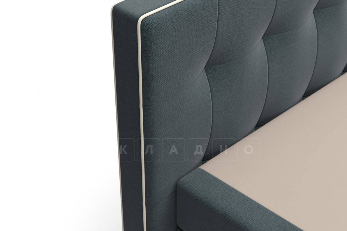 Кровать Николетт темно-серого цвета два раздельных матраса пружинный блок Боннель фото 5 | интернет-магазин Складно