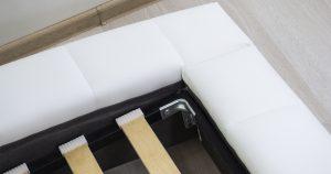 Мягкая кровать Оливия 160 см экокожа белый 19990 рублей, фото 17 | интернет-магазин Складно