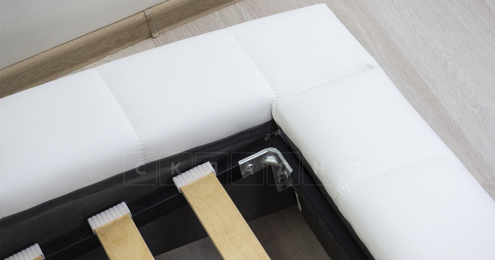 Мягкая кровать Оливия 160 см экокожа белый фото 17 | интернет-магазин Складно