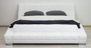 Мягкая кровать Оливия 160 см экокожа белый 19990 рублей, фото 8 | интернет-магазин Складно
