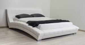Мягкая кровать Оливия 160 см экокожа белый 19990 рублей, фото 10 | интернет-магазин Складно