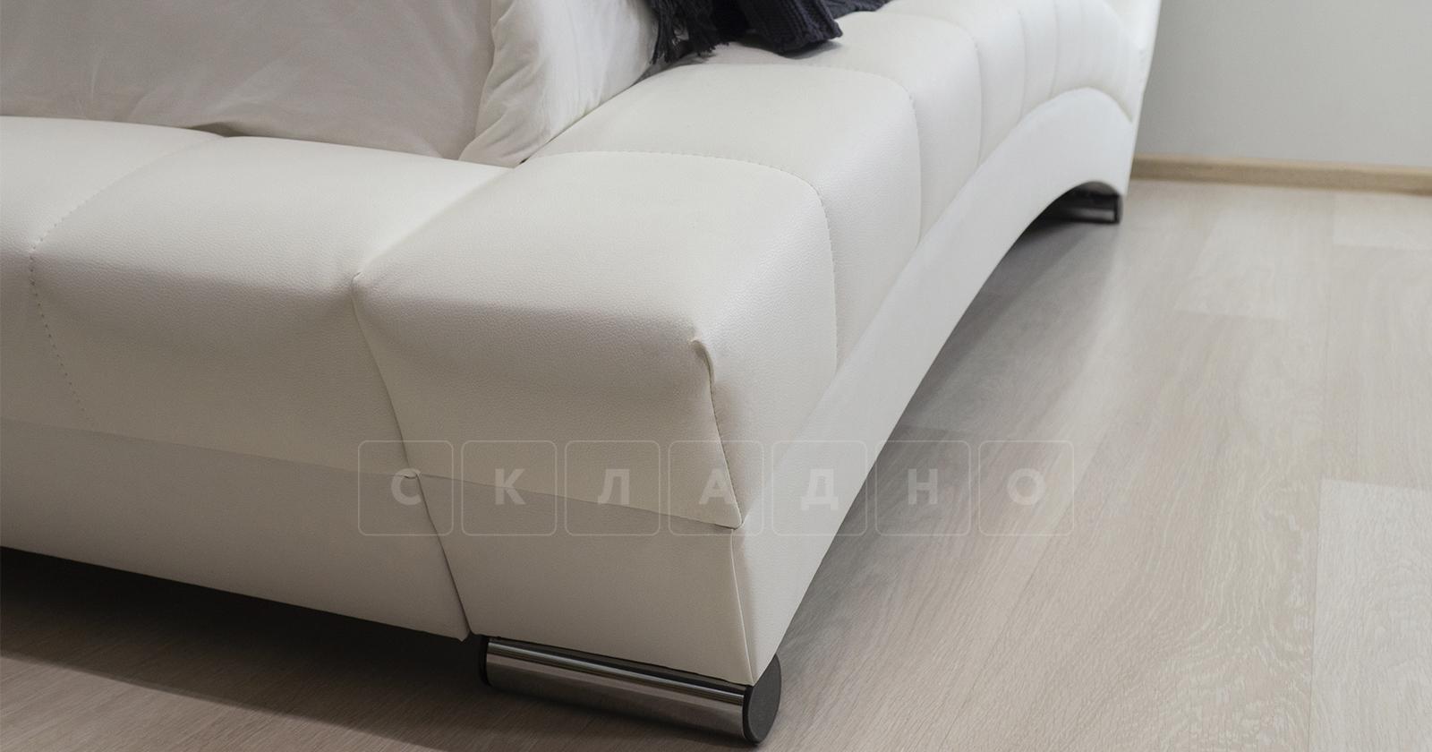 Мягкая кровать Оливия 160 см экокожа белый фото 11 | интернет-магазин Складно