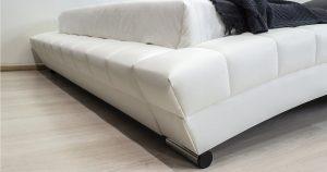 Мягкая кровать Оливия 160 см экокожа белый 19990 рублей, фото 12 | интернет-магазин Складно