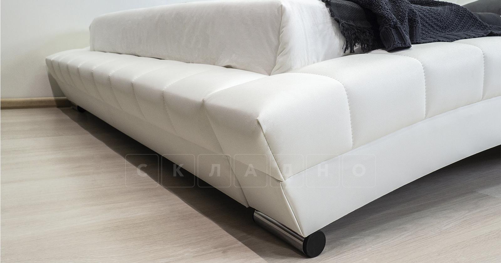 Мягкая кровать Оливия 160 см экокожа белый фото 12 | интернет-магазин Складно