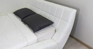 Мягкая кровать Оливия 160 см экокожа белый 19990 рублей, фото 9 | интернет-магазин Складно