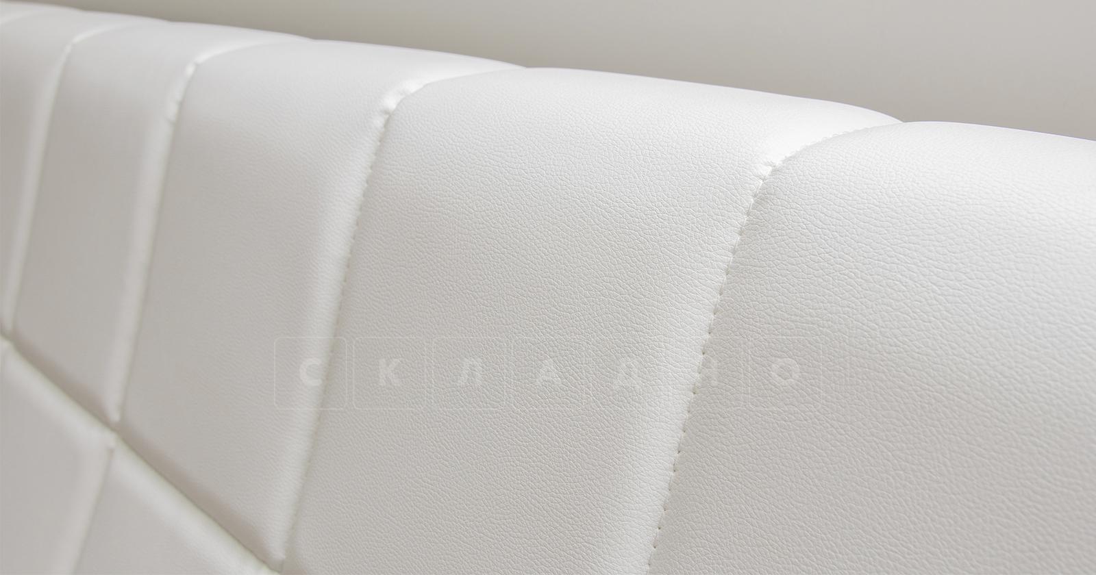 Мягкая кровать Оливия 160 см экокожа белый фото 14 | интернет-магазин Складно
