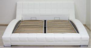 Мягкая кровать Оливия 160 см экокожа белый 29880 рублей, фото 3 | интернет-магазин Складно
