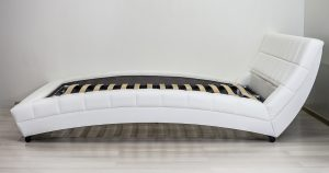 Мягкая кровать Оливия 160 см экокожа белый 19990 рублей, фото 6 | интернет-магазин Складно