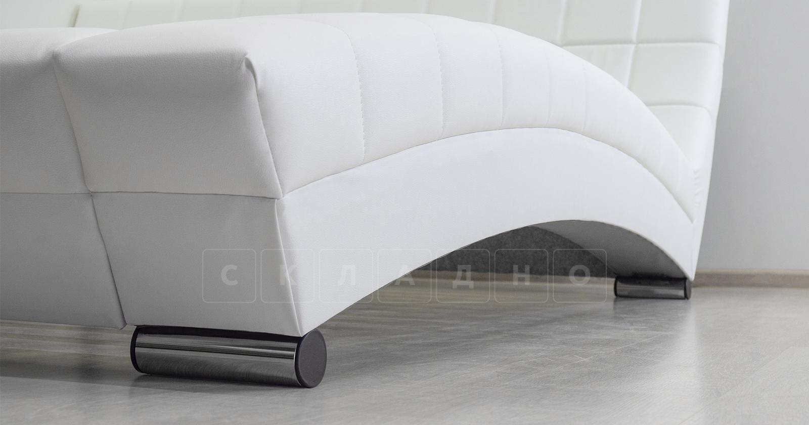 Мягкая кровать Оливия 160 см экокожа белый фото 7 | интернет-магазин Складно