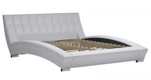 Мягкая кровать Оливия 160 см экокожа белый 19990 рублей, фото 2 | интернет-магазин Складно