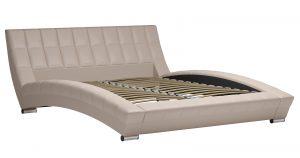 Мягкая кровать Оливия 160 см экокожа бежевый 19990 рублей, фото 2 | интернет-магазин Складно
