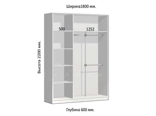 Шкаф-купе Комфорт ширина 180см, модель 1804 фото 1 | интернет-магазин Складно