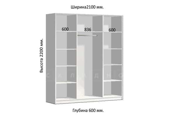 Шкаф-купе Комфорт ширина 210см, модель 2104 фото 1 | интернет-магазин Складно