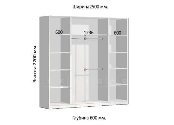 Шкаф-купе Комфорт ширина 250см, модель 2504 фото 1 | интернет-магазин Складно