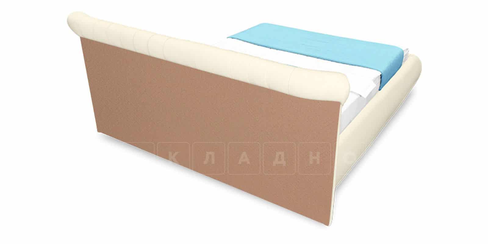 Мягкая кровать Вирджиния 160см экокожа молочного цвета фото 4 | интернет-магазин Складно